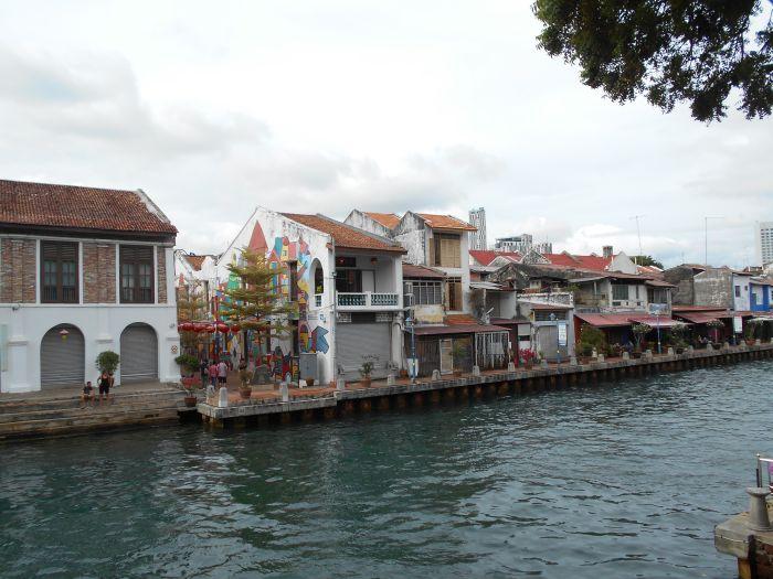 Nad rzeką Malakka w Malezji
