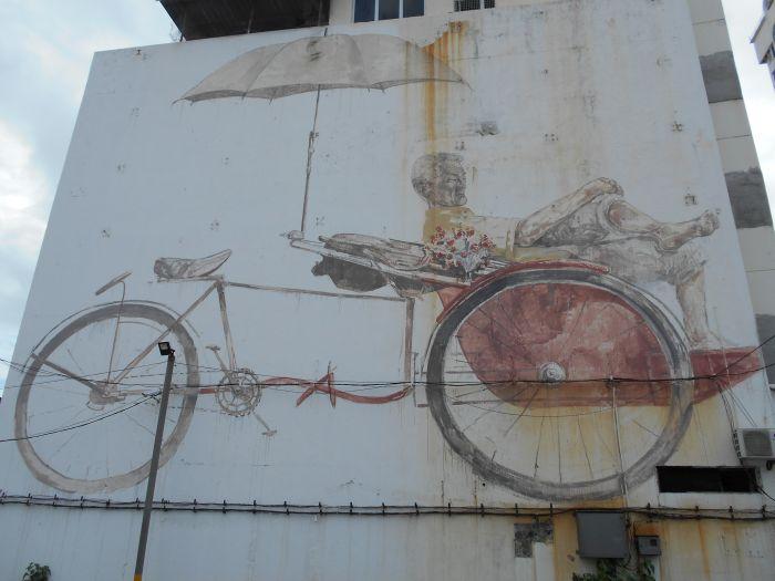 Mural odpoczywającego riksiarza