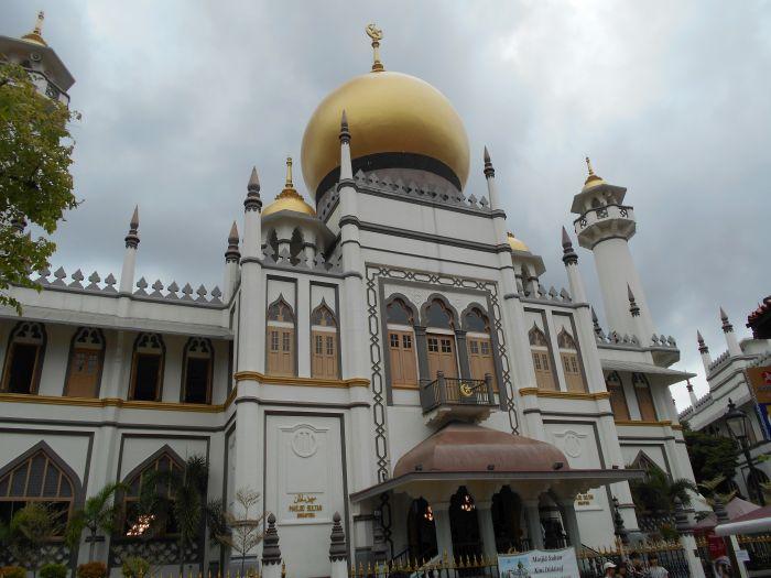 Wspaniały Meczet Sultana w Singapurze