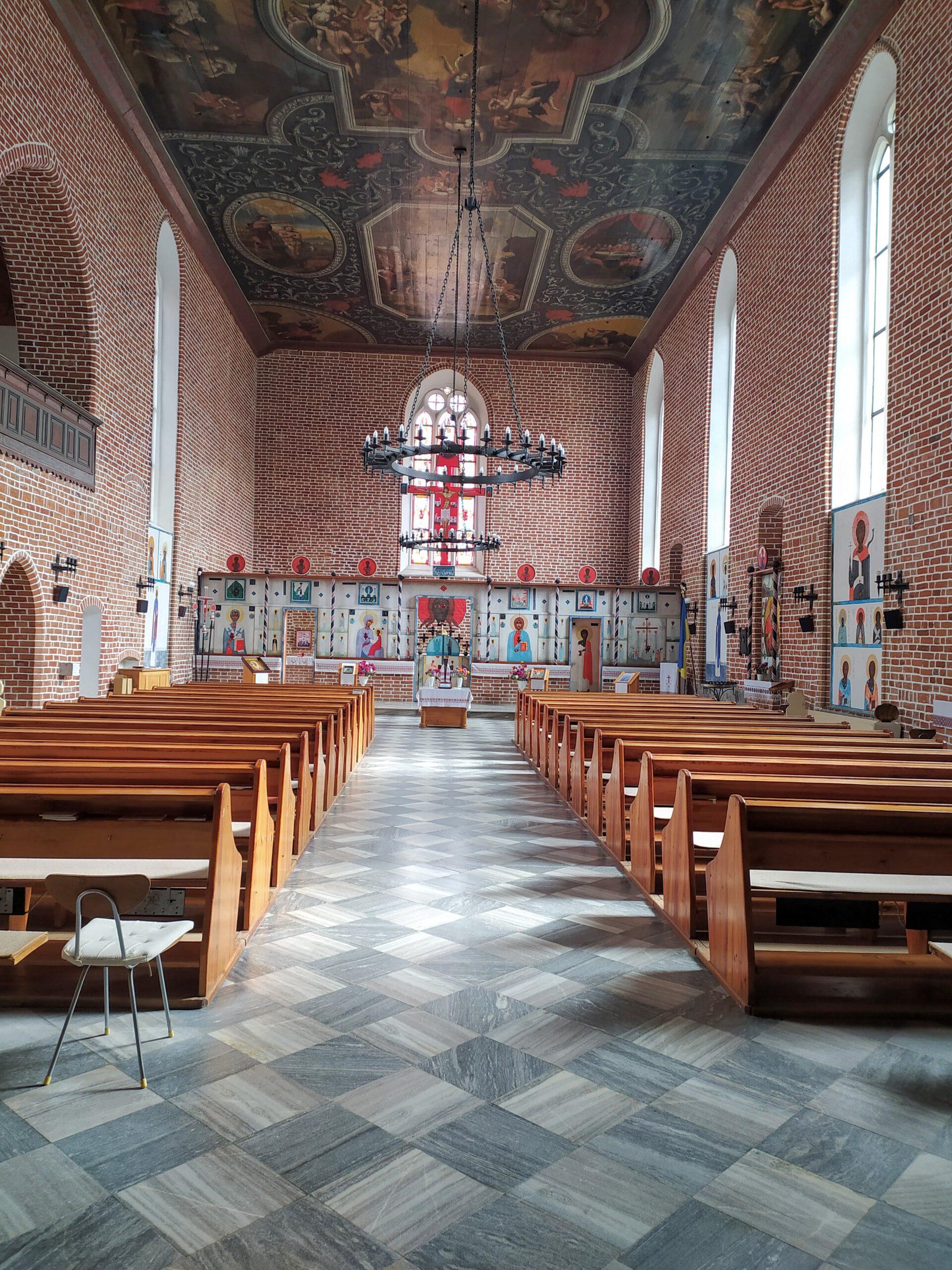 Wnętrze Cerkwi Grekokatolickiej w Górowie Iławeckim